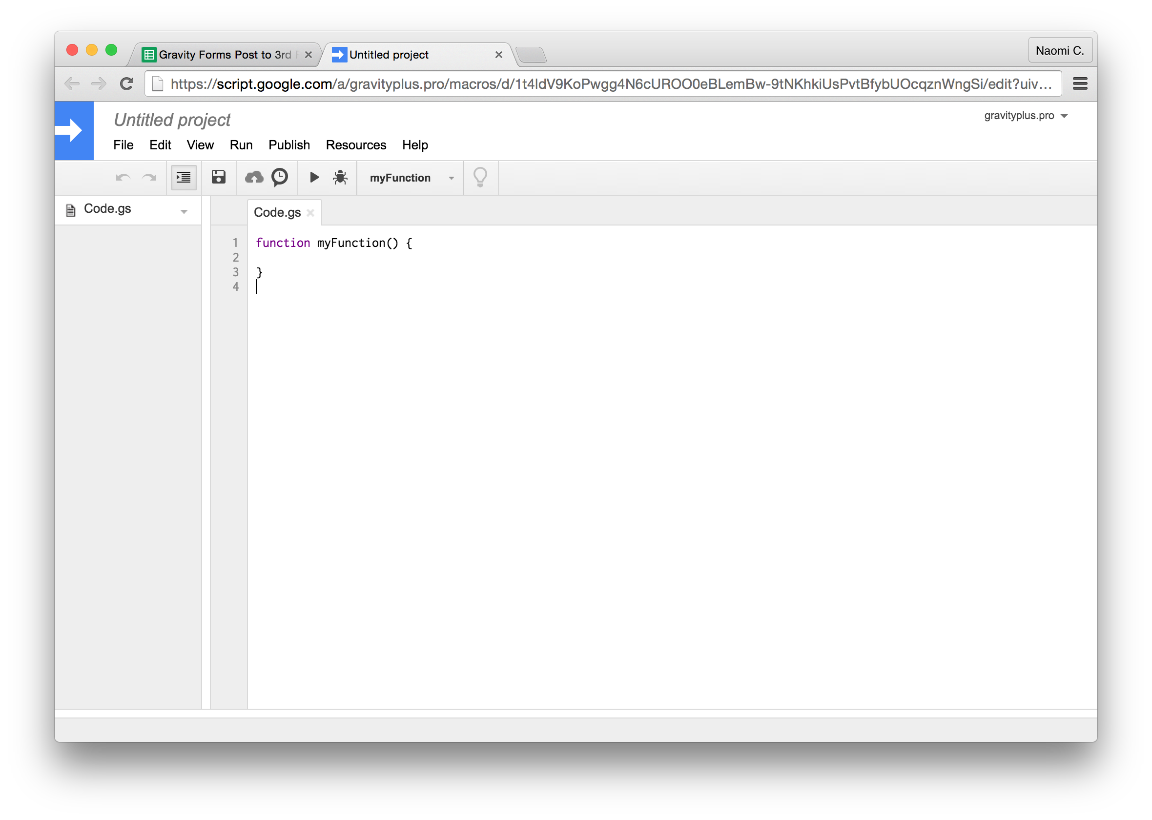 Gravity Forms To Google Sheets - by @gravityplus