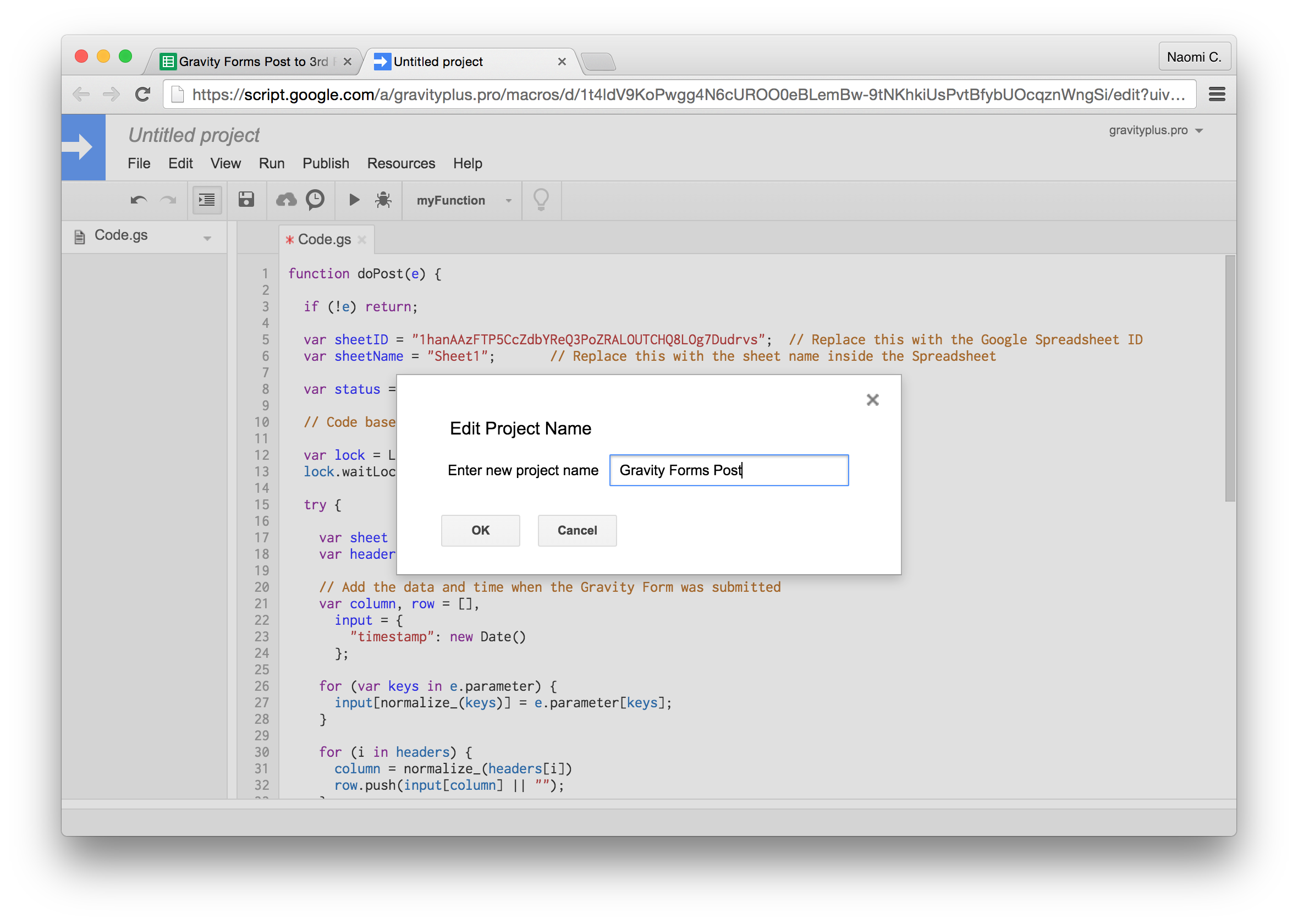 Gravity forms to google sheets by gravityplus gravity forms to google sheets new script name baditri Image collections