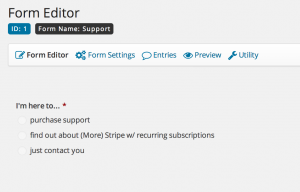 Gravity Forms Form Editor Radio Button Option Field